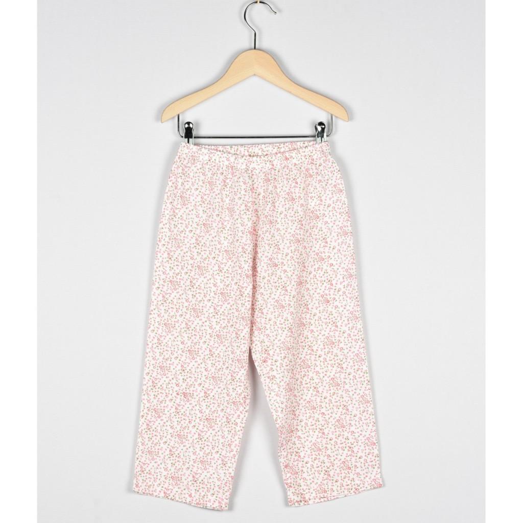 bas-de-pyjama-fille-imprime-fleurs-roses