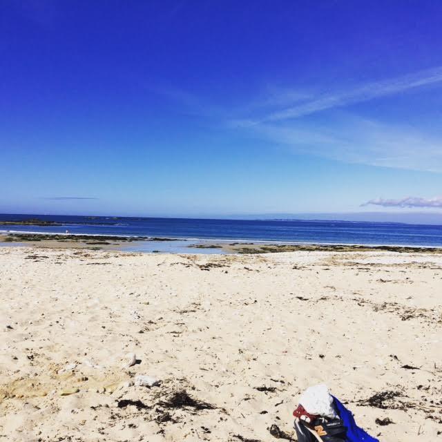 Le premier jour, nous avions toute la plage rien que pour nous !!