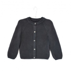 Cardigan Le Petit Germain couleur carbone