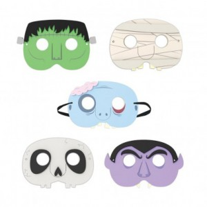 masques-de-fete-monstre-set-de-5