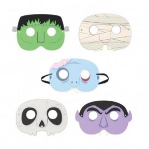 masques-de-fete-monstre-set-de-5