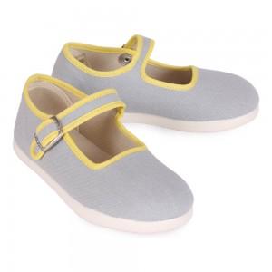 chaussons-babies-coton-gris-perle