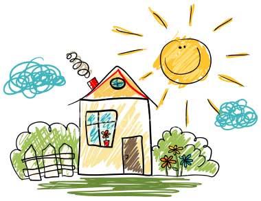 La maison de mon enfance blog blog y 39 a quelqu 39 un for Dessins maison
